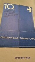 10th Anniversary Peace Corps Commermorative U.S. postage stamp First Day... - $5.89