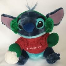 Disney Stitch From Lilo and Stitch Plush Blue Naughty Christmas Stuffed Animal image 2