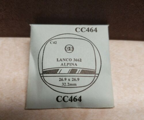 Primary image for NEW Lanco 3662 Alpina Watch Crystal Replacement C42 G-S, CC464 26.9x26.9 32.2mm