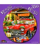 Car Wash Saturday - 350 Round Piece Jigsaw Puzzle for Age 14+ - $10.29