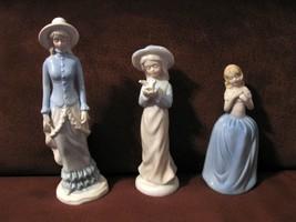 3 Ceramic Young Ladies Figurines - $17.95