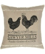 Vintage Pillow Farmhouse Poultry Rooster Prairie Country Primitive Decor - $22.80
