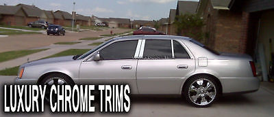 Stainless Steel Pillar Post Trim 6Pcs For CADILLAC DTS 2000-2011