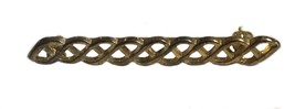 Vintage Gold Toned Celtic Knot Rope Bar Brooch Pin - $20.19