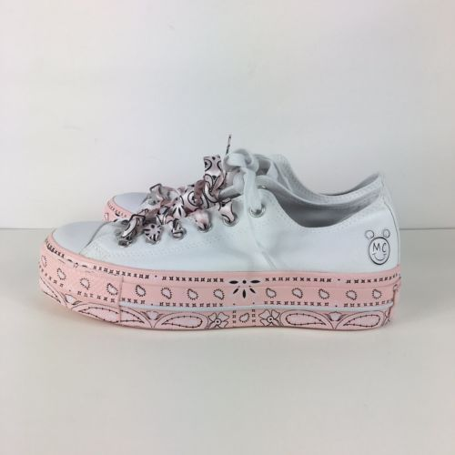 a31f67a325df Converse X Miley Cyrus Chuck Taylor All Star Lift 562236C White Pink Size 8