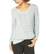 Style & Co. Women's Light Grey Heather Pointelle-Knit Tunic Sweater Size... - $25.73
