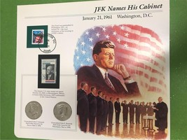 JFK Names His Cabinet January 21, 1961 Collector Page - $7.90