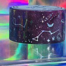 Sealed NIP Papergeek 2.5cm Constellation Galaxy Universe Planets Theme Foil image 4
