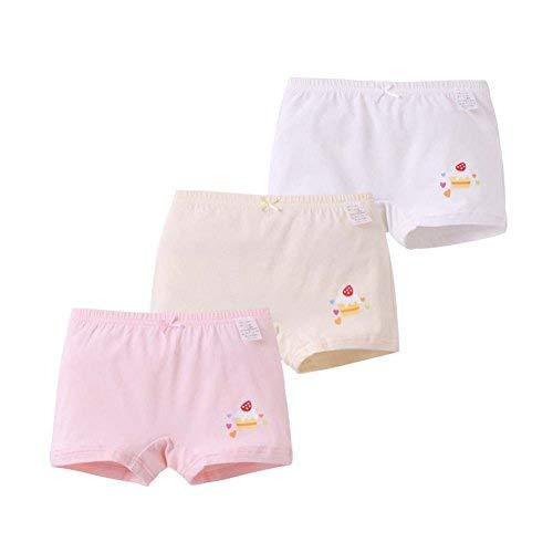 Set of 3 Soft Cotton Safety Pants Little Girl's Lovely Pattern Underwear A, Heig