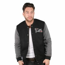 Primitive Outfield Varsity Button Up Letterman Fashion Jacket Black NWT image 1