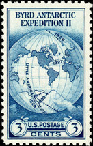 1935 3c Byrd Antarctic, Single Stamp issued without gum Scott 753 Mint F... - $2.38
