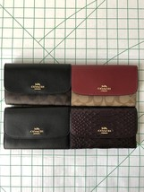 Coach F32485 Medium Envelope Wallet in Signature Coated Canvas Various C... - $51.00