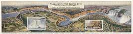 Niagara Great Gorge Trip Railroad Map Falls Rapids Wall Art Poster Print... - $12.38
