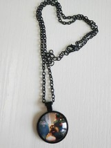 Animation Wide Eyes Cabochon Necklace (14616) >> C/S & H Available - $2.97