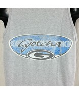 Gotcha Mens Tank Top Medium Vtg 90s Made In USA Athletic or Heather Gray... - $29.99