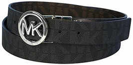 Michael Kors Women's Signature Reversible Circle MK Logo Belt 551342 image 2