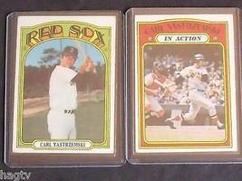 1972 Topps Carl Yastrzemski Baseball Cards # 37 Centered & 38 Boston Red Sox HOF - $24.50
