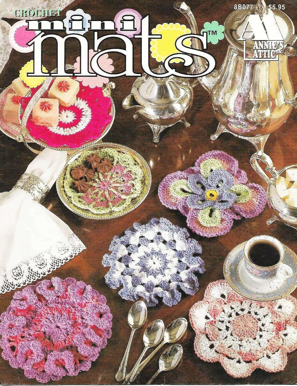 Mini Mats  Annie's Attic Make 12 Beautiful Coaster Mats with Thread  NEW - $8.95