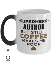 Author Coffee Mug - Unique 11 oz Color Changing Cup For Friends Office  - $14.95