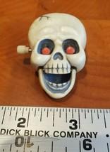 Hallmark Halloween Skull Pin - Wind up Vintage SKELETON Red Eye Movement... - $19.80