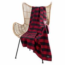 "Pendleton Rob Roy Luxe 100% Polyester 50""x70"" Throw Blanket Red Navy Plaid NWT - $27.71"