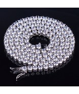 TOPGRILLZ 2.5mm-10mm  Iced Out Bling AAA Zircon 1 Row Tennis Chain Neckl... - $55.12