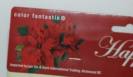 Color Fantastik 62574 Happy holidays Red Off White Poinsettia Table Cover image 2