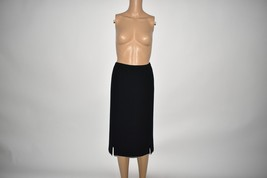 1980 Vintage Frank Usher Black Skirt Size UK 14 - $32.68