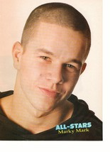 Marky Mark Wahlberg teen magazine pinup clipping Bald Head Tiger Beat Bop