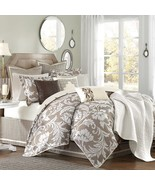 BELVILLE DUVET STYLE 9 PIECE QUEEN COMFORTER SET BY HAMPTON HILL - $425.00