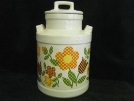 McCoy Milk Can Style Cookie Jar with Flowers  - $49.95