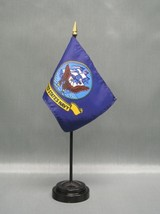 "NAVY 4X6"" TABLE TOP FLAG W/ BASE NEW US NAVY DESK TOP HANDHELD STICK FLAG - $4.95"