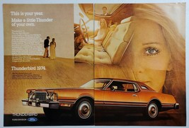 1973 Print Ad The 1974 Ford Thunderbird Sunroof or Moonroof - $13.93