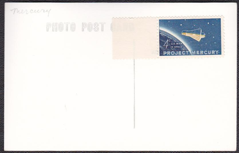 Walter Schirra Jr. & Sigma 7 Mercury Project Spacecraft Photo Postcard & Stamp