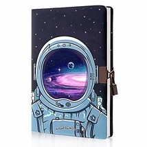 Planet Locking Journal for Boys Kids,Locking Diary with Keys,PU Leather Cover Jo