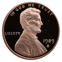 1989-S Lincoln Memorial Cent Penny Gem Proof US Mint Coin Uncirculated UNC - $7.99