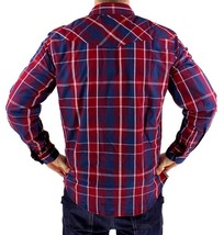 NEW NWT LEVI'S MEN'S LONG SLEEVE BUTTON UP CASUAL DRESS SHIRT RED 3LYLW0042 image 2