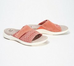 Earth Origins Suede/Knit Slide Sandals - Westfield Westley Terracotta 8 M - $34.64