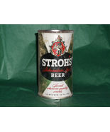Vintage Stroh's Bohemian Style Keglined Detroit Michigan Flat Top Beer Can - $39.53