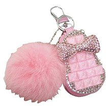 Auto Parts Car Accessories Lovely Fur Ball Car Key Case Keychain Key Covers