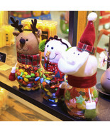 Christmas Cy Jar Santa Claus /Sowma/El Christmas Gift Christmas Destop W... - $20.99