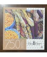 """MB Big Ben 750 Piece Jigsaw Puzzle - Colorful Corn - 20"""" x 27"""" Excellent... - $12.38"""