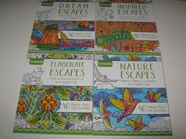 4 Crayola Escapes Adult Coloring Books Dream Nature Elaborate Inspired NOS - $26.72