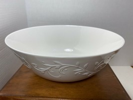 Lenox Opal Innocence Carved Round Serving Bowl White - $74.76