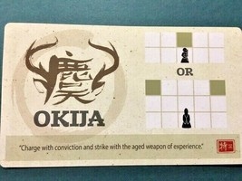Onitama - GenCon Okija Promo Card - Game Promo - Arcane Wonders -=NEW=- - $8.50