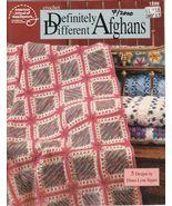 Definitely Different Afghans Crochet Patterns 5 Designs Blankets Throws - $13.00