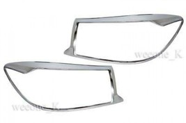 Chrome Headlight Cover Trim For Toyota Fortuner 2009 2010 2011 - $52.42