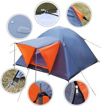 Eight24hours Waterproof 3-4 Person Camping Tent Outdoor Hiking Double La... - $67.00