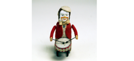 Schuco PATENT 1950's Pierrot playing small drum collectible antique toy A34 - $472.00