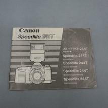 Vintage Canon Speedlite 244T Flash Instruction Manual - $29.33